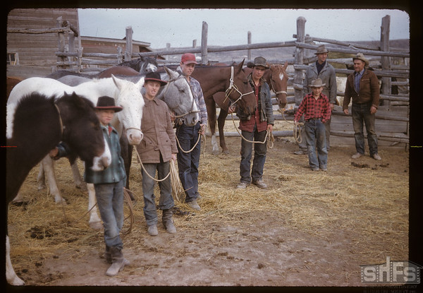 At Bascom's ranch - looking for Claydon 400 horse herd. Eastend. 10/08/1958