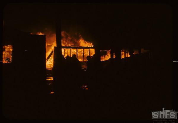 Ford garage fire.  Shaunavon.  02/21/1958