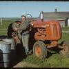 Co-op tractor.  Shaunavon.  07/07/1952