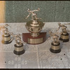 Wheat Pool District 3 curling trophies..  Shaunavon.  07/25/1956