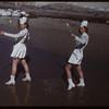 """""""Doreen"""" Vasseur & Jacque Beggs as Majorettes.  Shaunavon.  03/21/1950"""