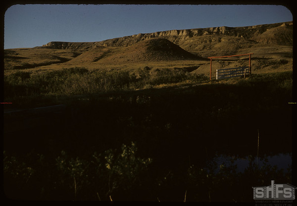 Joe White's ranch land..  Shaunavon.  08/23/1957