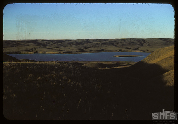 West reservoir and island.  Val Marie.  10/05/1954