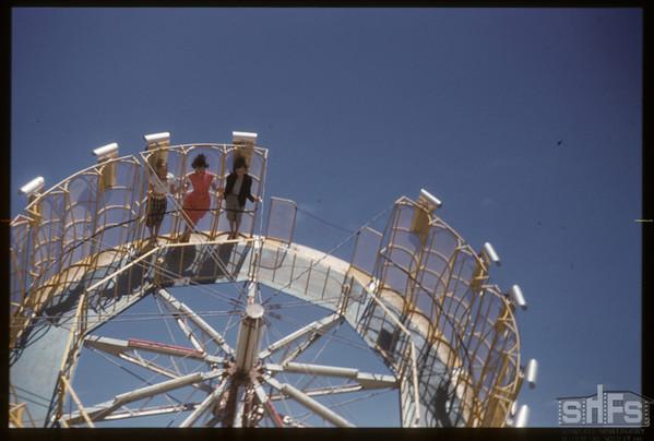 Shaunavon Fair - one of the rides.  Shaunavon.  05/27/1955