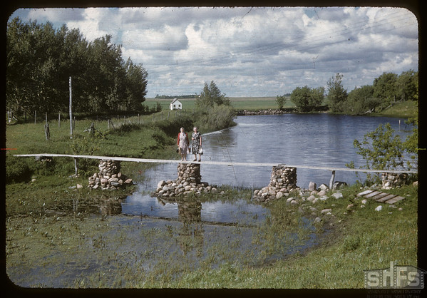 Werner Meyer's foot bridge.  Stone P.O..  06/20/1957