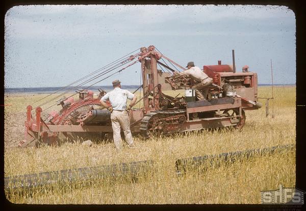 Pipeline digging Dollard to Cantuar. Dollard. 08/07/1956
