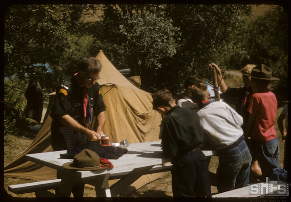 Eastend Boy Scouts Prepare Meal.  South Fork.  08/24/1957