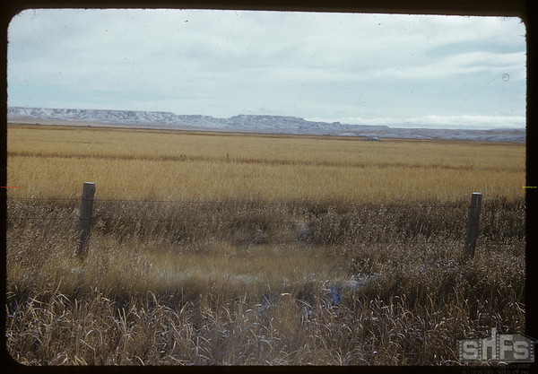70 Mile Butte from highway #4.  Val Marie.  10/31/1951
