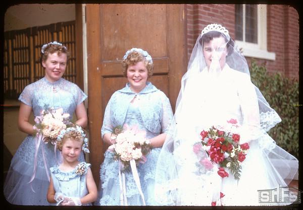 Neidig - Lind wedding - bride's maids.  Shaunavon.  05/26/1956
