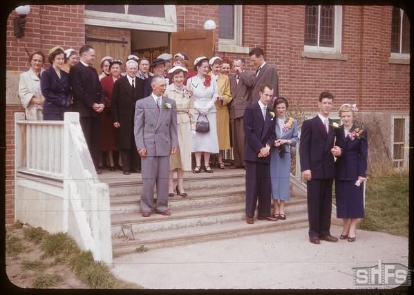 Dorothy Cameron - Don Hamilton wedding.  Shaunavon.  05/16/1953