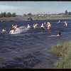 co-op school at the swimming hole.  Swift Current.  07/10/1957