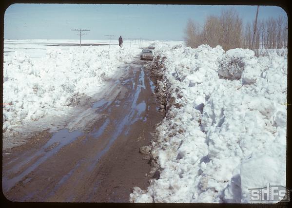 Snowy valley..  Shaunavon.  04/05/1950