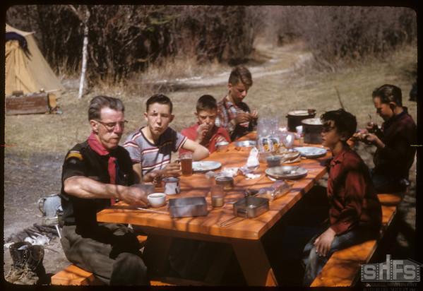 Loui Blair & Eastend Boy Scouts.  South Fork.  04/28/1957