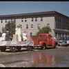 Jubilee Fair Parade - Rebekah's Lodge float.  Shaunavon.  07/26/1955