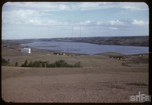 Beginning construction on Gardiner Dam.  Strongfield.  06/09/1959