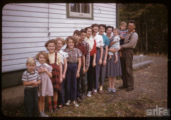 Jack & Betty Donavon and family (12 children).  Waseca.  09/27/1955