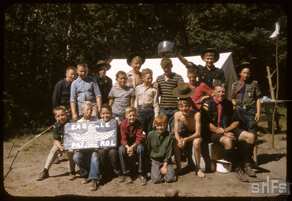 Eastend Scouts Eagle Patrol. Pine Cree.  South Fork.  08/24/1957