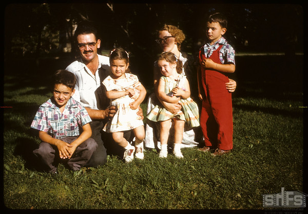 Ken Edwards family in Shaunavon Park..  Scotsguard.  08/27/1959