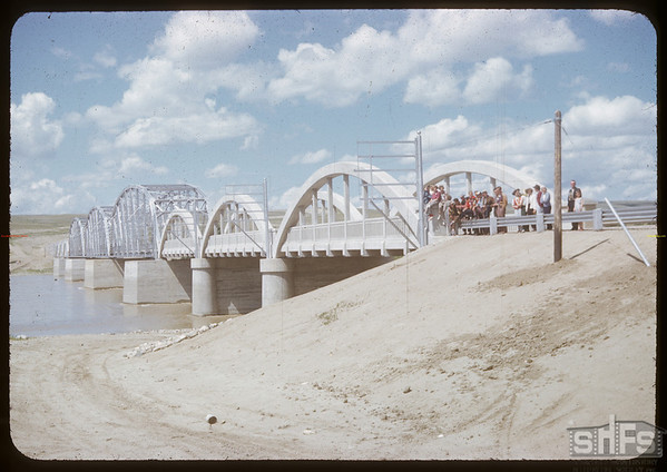 Sask Landing bridge which was officially opened on June 20 1951.  Swift Current.  07/11/1951