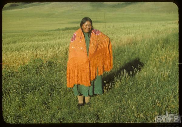 Mrs. Johnny LeCaine.  Wood Mountain I. R..  08/07/1954
