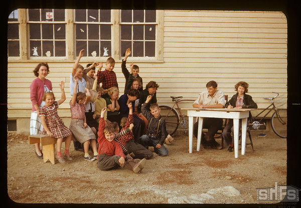 Pinto River school co-op - students learning about electing directors. Aneroid. 10/13/1950