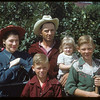 Mr & Mrs Walter Thomas with Raymond & Kenneth and Charlene.  Wood Mountain.  08/06/1954