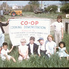 Pool - Co-op flour baking demonstration.  Kathy Knippelberg - Terry Ann Miller - June Barker & Sharon Emms..  Mankota.  06/28/1957
