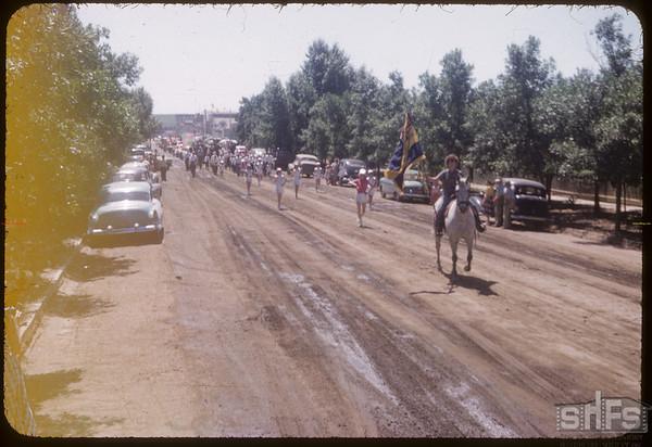 Parade for the Shaunavon Fair.  Shaunavon.  07/20/1954