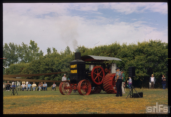 Yorkton Thresherman's Festival - steam tractor.  Yorkton.  08/01/1999