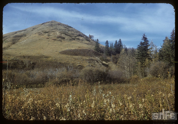 Mountain NW of johnny Graboskis garden.  South Fork.  10/08/1954