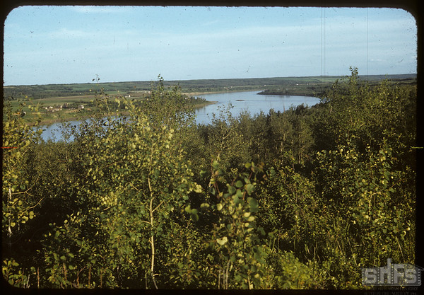 South Sask. river from St. Laurent Mission.  St. Laurent.  06/27/1953