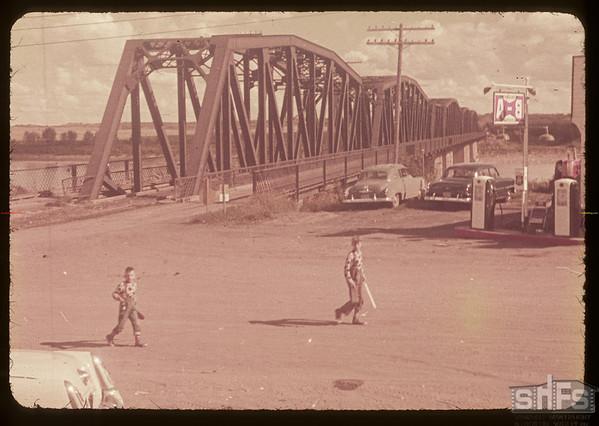 South Sask. river bridge.  St. Louis.  08/14/1953