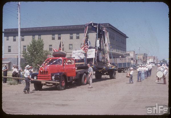 Oil Pump in the Fair Parade.  Shaunavon.  07/20/1954