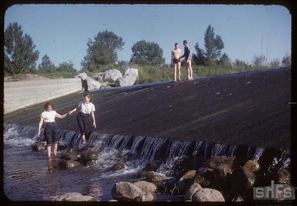 Co-op school kids at City Dam.  Swift Current.  07/05/1954