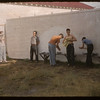 Co-op school - boys outdoor washroom.  Swift Current.  07/14/1956