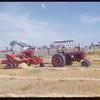 Rene Smith baling oats. Meyronne 09/06/1952