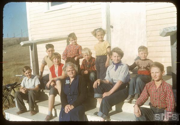 South Fork School. Mrs Ruth Deam Teacher.  South Fork.  10/08/1954