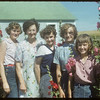 Peter Lewan's family - the girls and mother.  Shaunavon.  08/24/1954