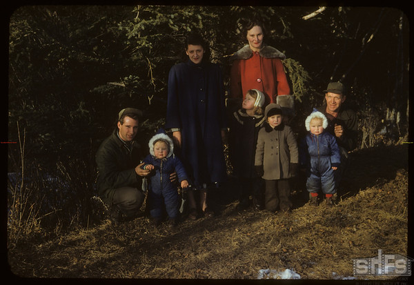 Families Raymond and Edward Wright.  South Fork.  12/12/1954