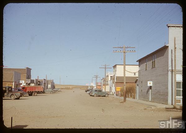 Main street looking north.  Val Marie.  10/05/1954