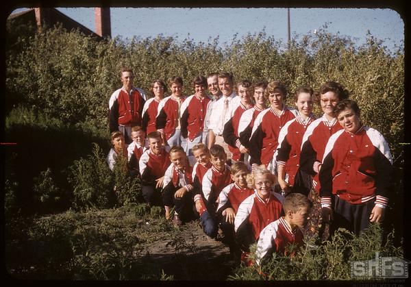 Shaunavon 4-H Horticultural Show - Legion Hall.  Shaunavon.  08/04/1956