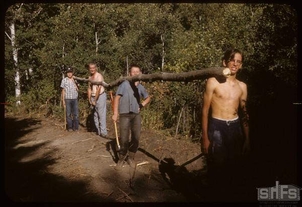 Boy Scouts Tepee Poles Pine Cree Park.  South Fork.  08/16/1958
