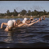 Co-op school girls swimming class.  Swift Current.  07/09/1956