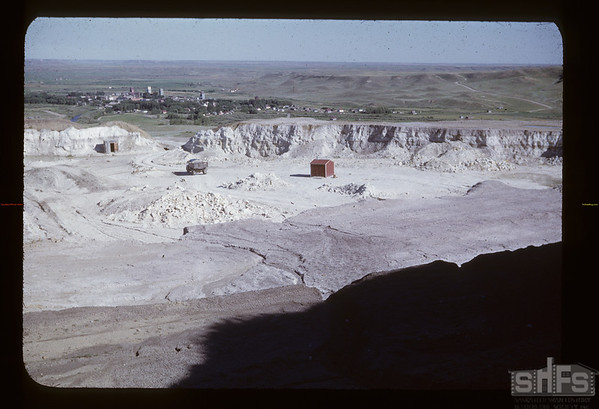 Hauling mud from Hilltop Mine. Eastend. 07/22/1950