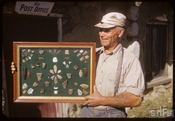 Steve Mann. Arrowheads.  Skull Creek P. O..  09/16/1952