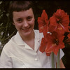 Mary Anne Dixon with Mrs. Leslie's armarilla..  Shaunavon.  06/29/1959