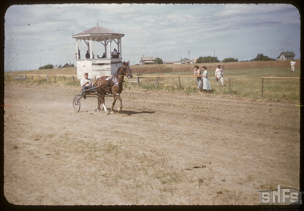 Shaunavon Fair - McNabb harness races.  Shaunavon.  07/27/1955