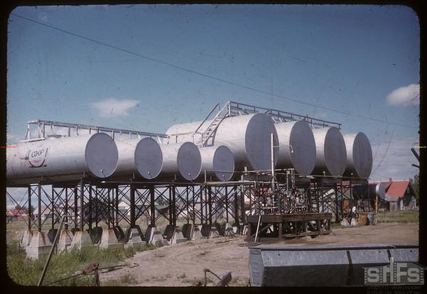 Co-op oil tanks.  Shaunavon.  06/27/1957