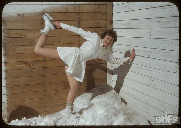Skating Club - Jean Osberg.  Shaunavon.  03/21/1950