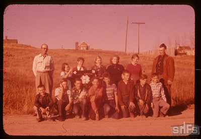 Admiral 4-H with leaders Jim Cooper and A. Hedstrom,  10/11/1957